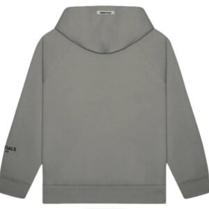 FEAR OF GOD ESSENTIALS 3D Silicon Applique Pullover Hoodie Gray FlannelCharcoal 2