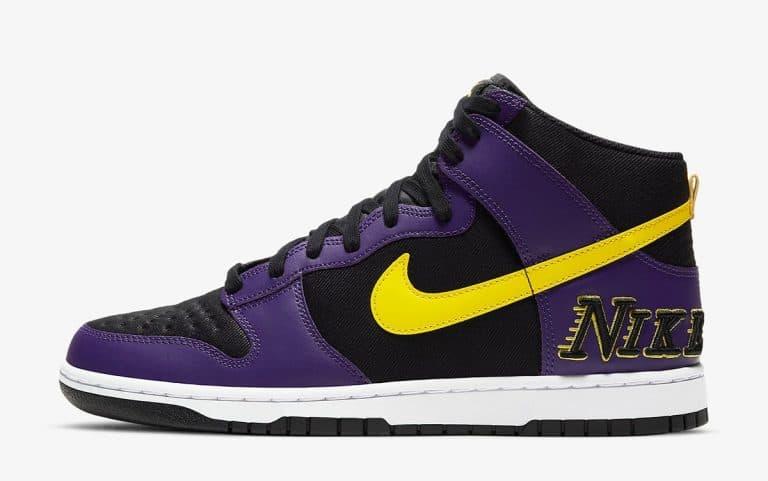 Nike Dunk High EMB Lakers vyshli 29 aprelya 2