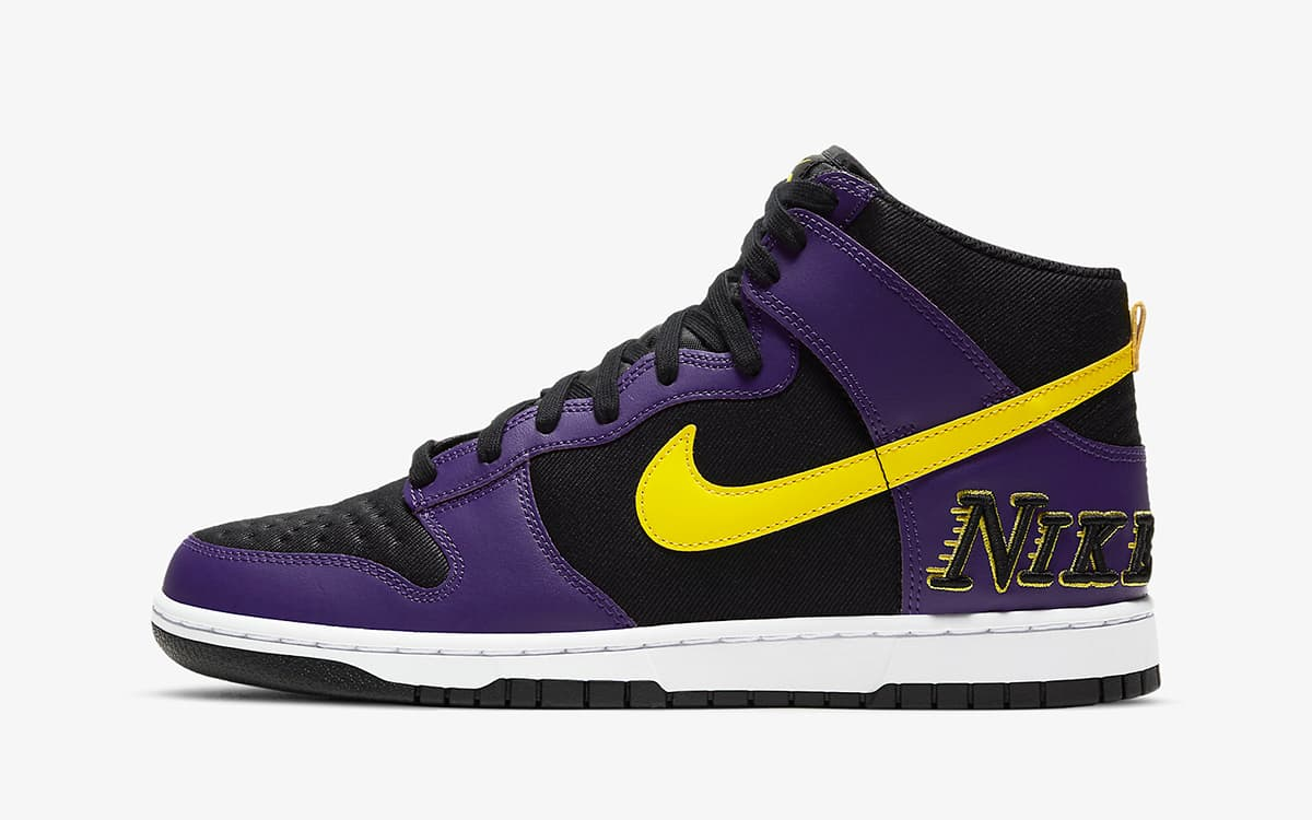 Nike Dunk High EMB Lakers vyshli 29 aprelya