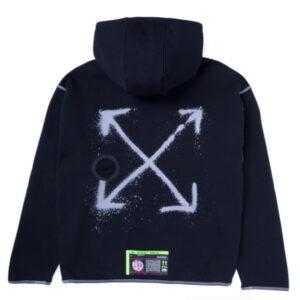 OFF WHITE x Nike Hoodie Black 2