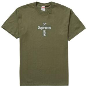 Supreme Cross Box Logo Tee Light Olive 1