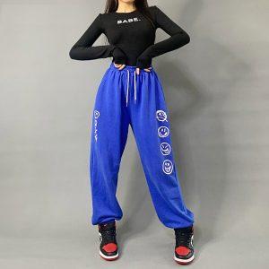 2020 Hip hop Style Sweatpants Blue 1