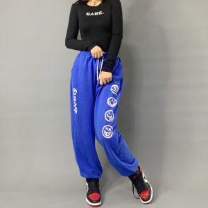2020 Hip hop Style Sweatpants Blue 2