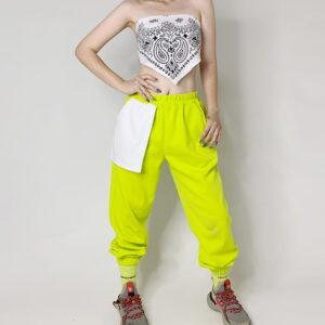 2020 Hip hop Style Sweatpants Monochromatic Volt 2