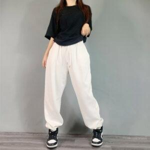 2020 Hip hop Style Sweatpants Monochromatic White Black 1