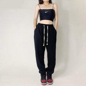 2020 Hip hop Style Sweatpants Monochromatic White Black 2