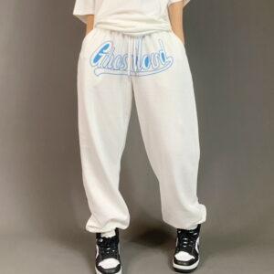 2021 Ghostland Hip hop Style Sweatpants White 1