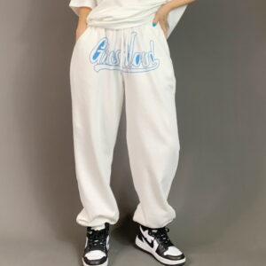2021 Ghostland Hip hop Style Sweatpants White 2