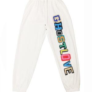 2021 Ghostlove Hip hop Style Sweatpants White 1