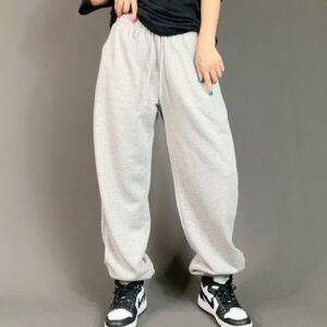2021 Hip hop Style Sweatpants Monochromatic Grey 2