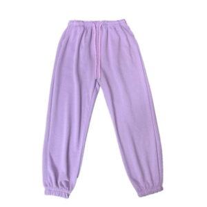 2021 Hip hop Style Sweatpants Monochromatic Purple 1