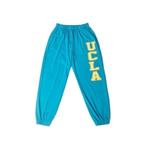 2021 UCLA Hip hop Style Sweatpants White Blue 1