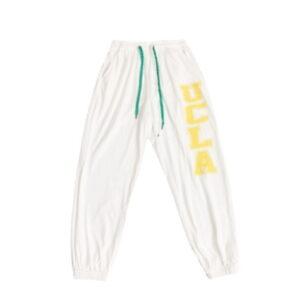 2021 UCLA Hip hop Style Sweatpants White Blue 2
