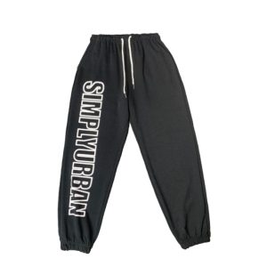 2021 Urban Hip hop Style Sweatpants Black 1