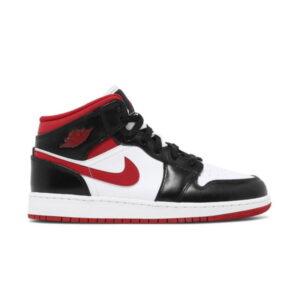 Air Jordan 1 Mid GS Black Gym Red