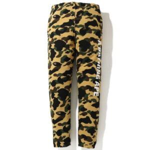 BAPE 1st Camo Side Logo Slim Sweat Pants Yellow 1