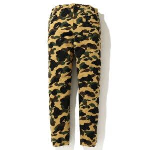 BAPE 1st Camo Side Logo Slim Sweat Pants Yellow 2