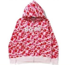 BAPE ABC Camo BAPE Swarovski Full Zip Hoodie Pink 1