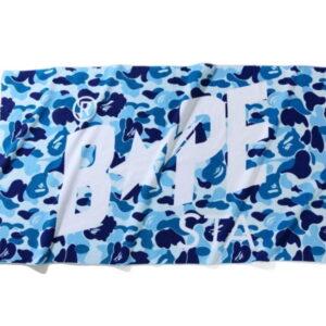 BAPE ABC Camo Bapesta Beach Towel Blue 1