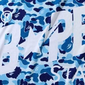 BAPE ABC Camo Bapesta Beach Towel Blue 2