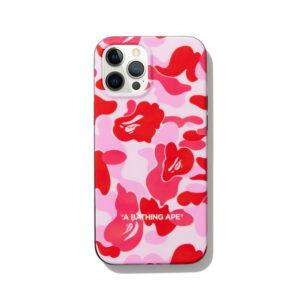 BAPE ABC Camo iPhone 12 PRO MAX Case Pink 1