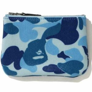 BAPE ABC Canvas S Wallet Blue 1