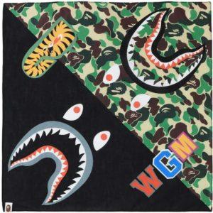 BAPE ABC Shark Bandana Green 1