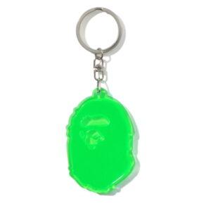 BAPE Ape Head Reflective Keychain Green 1