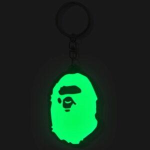 BAPE Ape Head Reflective Keychain Green 2