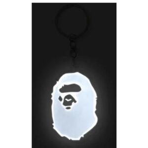 BAPE Ape Head Reflective Keychain White 2