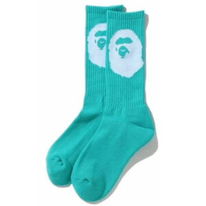 BAPE Big Ape Head Socks Sax 1