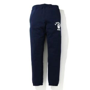BAPE Classic College Slim Sweat Pants Navy 1