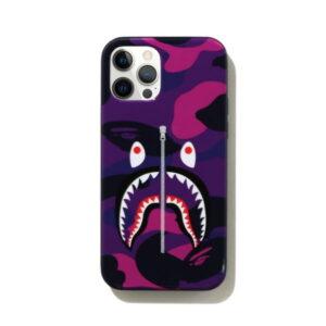 BAPE Color Camo Shark iPhone 12 12 Pro Case Purple 1