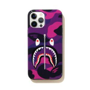 BAPE Color Camo Shark iPhone 12 Pro Max Case Purple 1