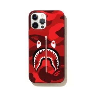 BAPE Color Camo Shark iPhone 12 Pro Max Case Red 1