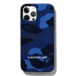 BAPE Color Camo iPhone 12 12 Pro Case Navy 1
