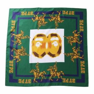 BAPE Double Ape Head Scarf Scarf Green 1