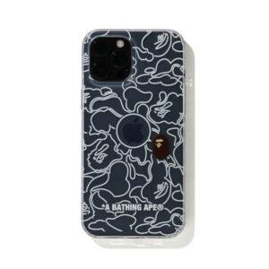 BAPE Neon Camo iPhone 12 12 Pro Case Clear 1