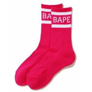 BAPE Neon Socks Pink 1