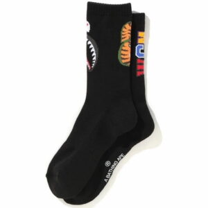 BAPE Shark Socks Black 1
