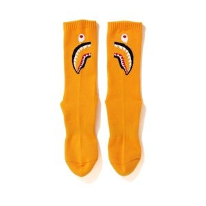 BAPE Shark Socks FW20 Orange 1