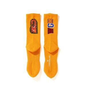 BAPE Shark Socks FW20 Orange 2