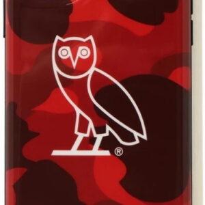 BAPE x OVO Color Camo Iphone 11 Pro Case Red 1