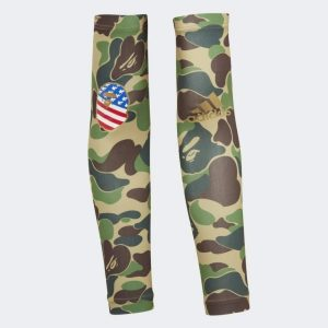 BAPE x adidas Arm Sleeves Green 1