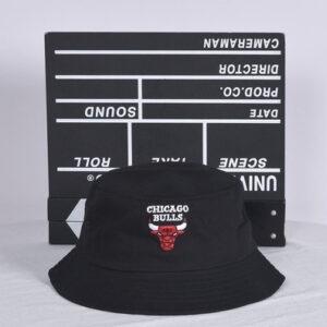 NBA Chicago Bulls Bucket Hat Black White 1