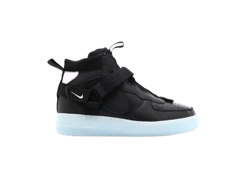 Nike Air Force 1 Mid Utility Black Half Blue
