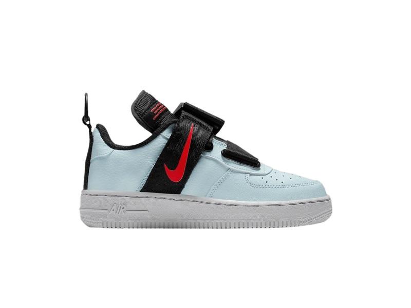 Nike Air Force 1 Utility GS Topaz Mist Wolf Grey