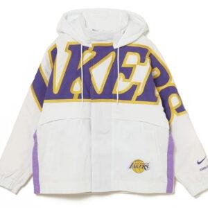 Nike x Ambush NBA Collection Lakers Jacket White Purple Gold 1