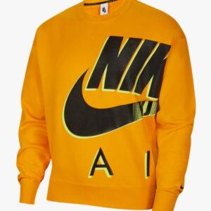 Nike x Kim Jones Fleece Crewneck Orange 1