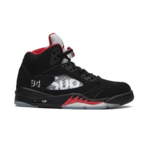 Supreme x Air Jordan 5 Retro Black